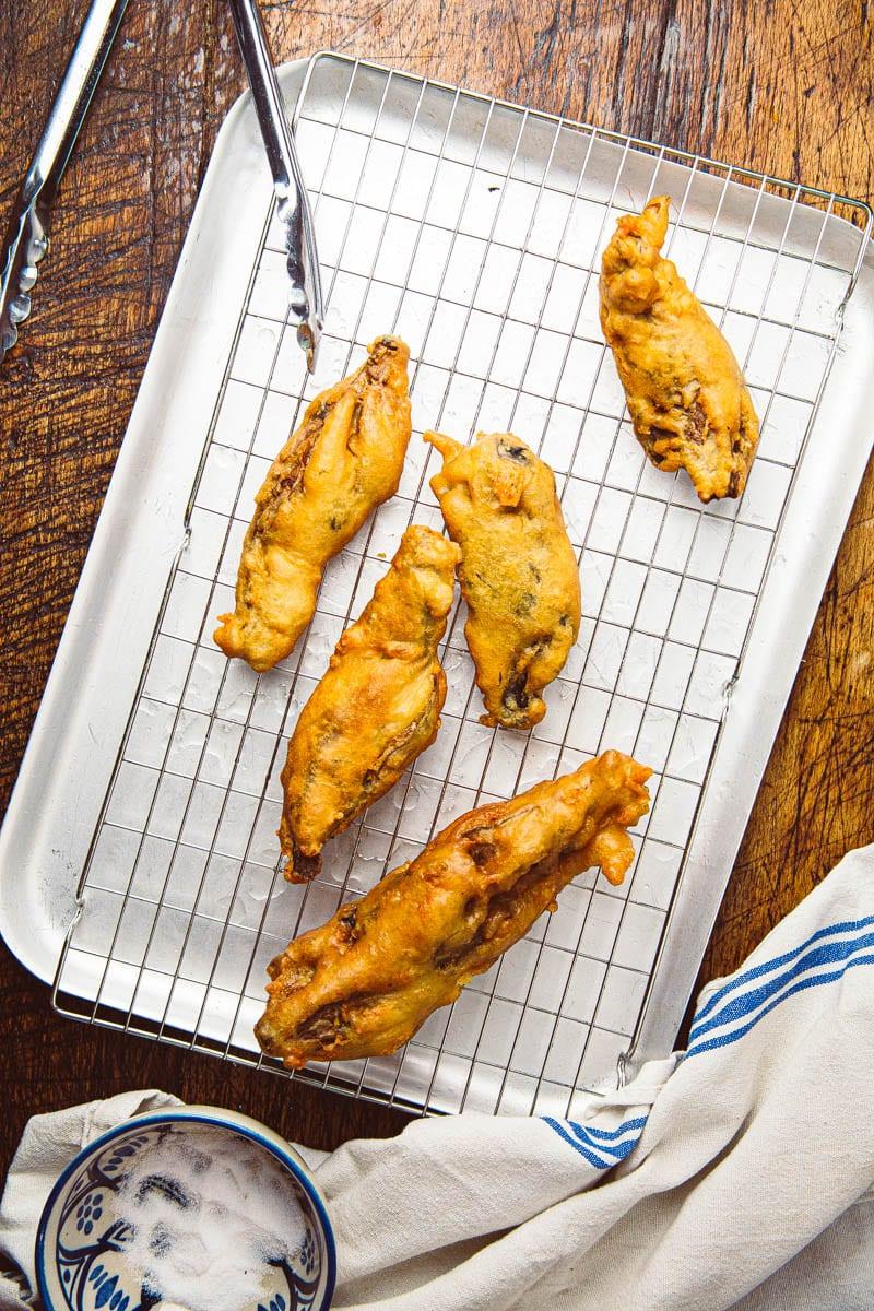 banana blossom fish fried