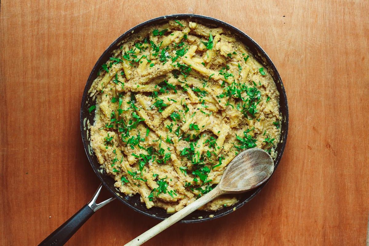 Roast cauliflower pasta