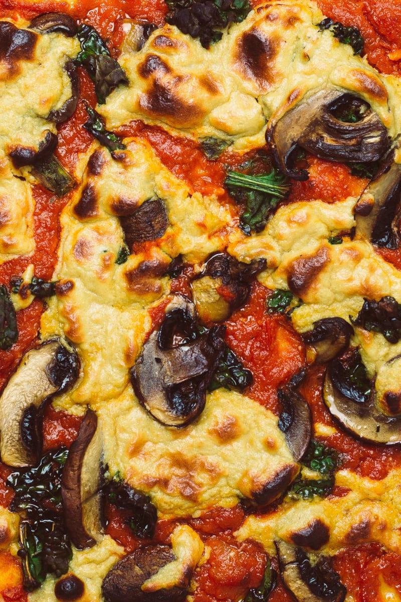 easy vegan pizza cheese profile