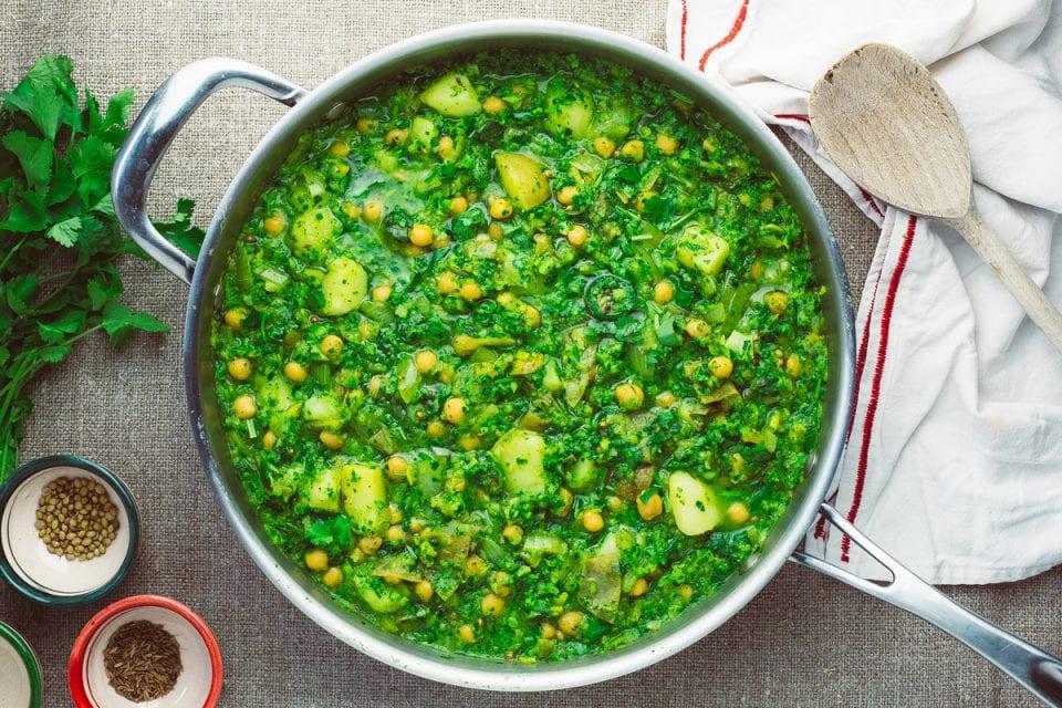 Spring Greens And Broccoli Saag