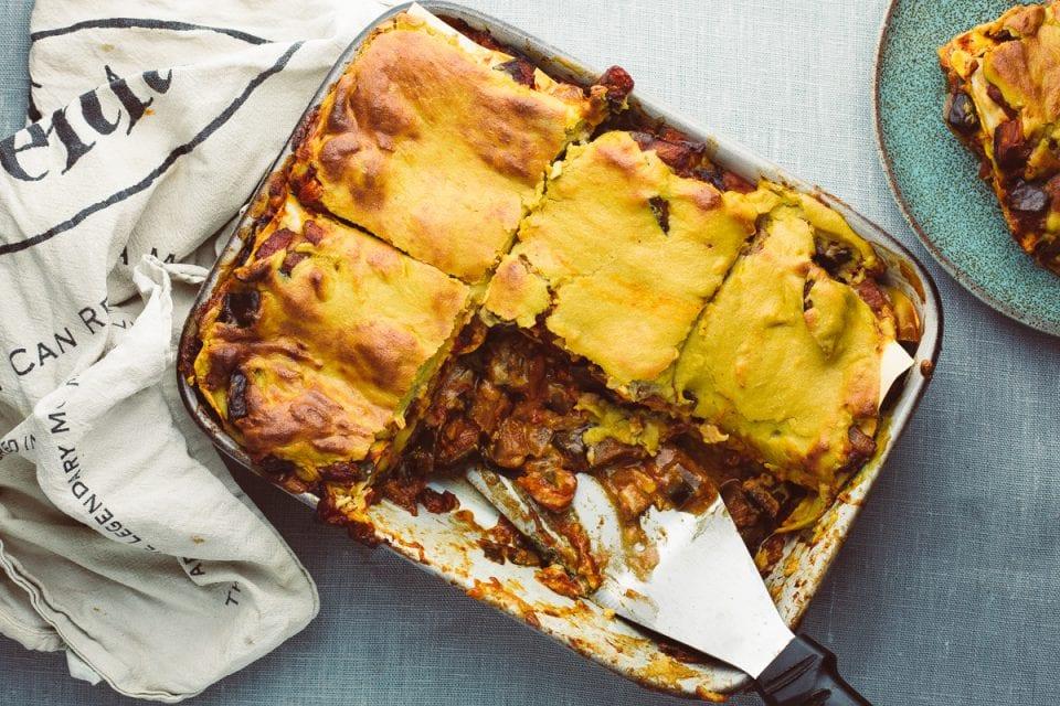 vegan aubergine lasagne