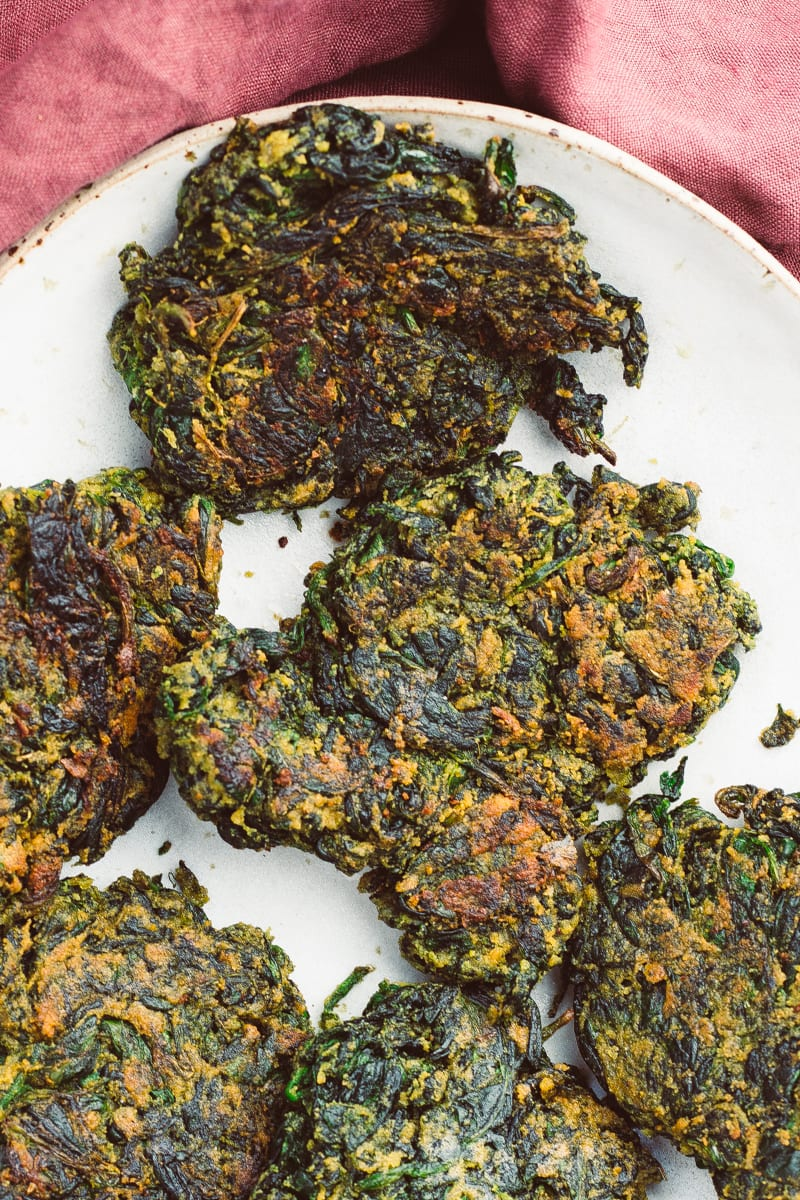 spinach fritters zoomed
