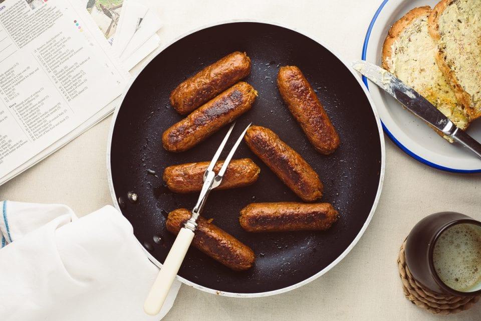 homemade seitan sausages