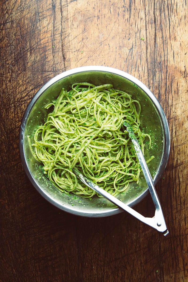 nettle pesto and pasta