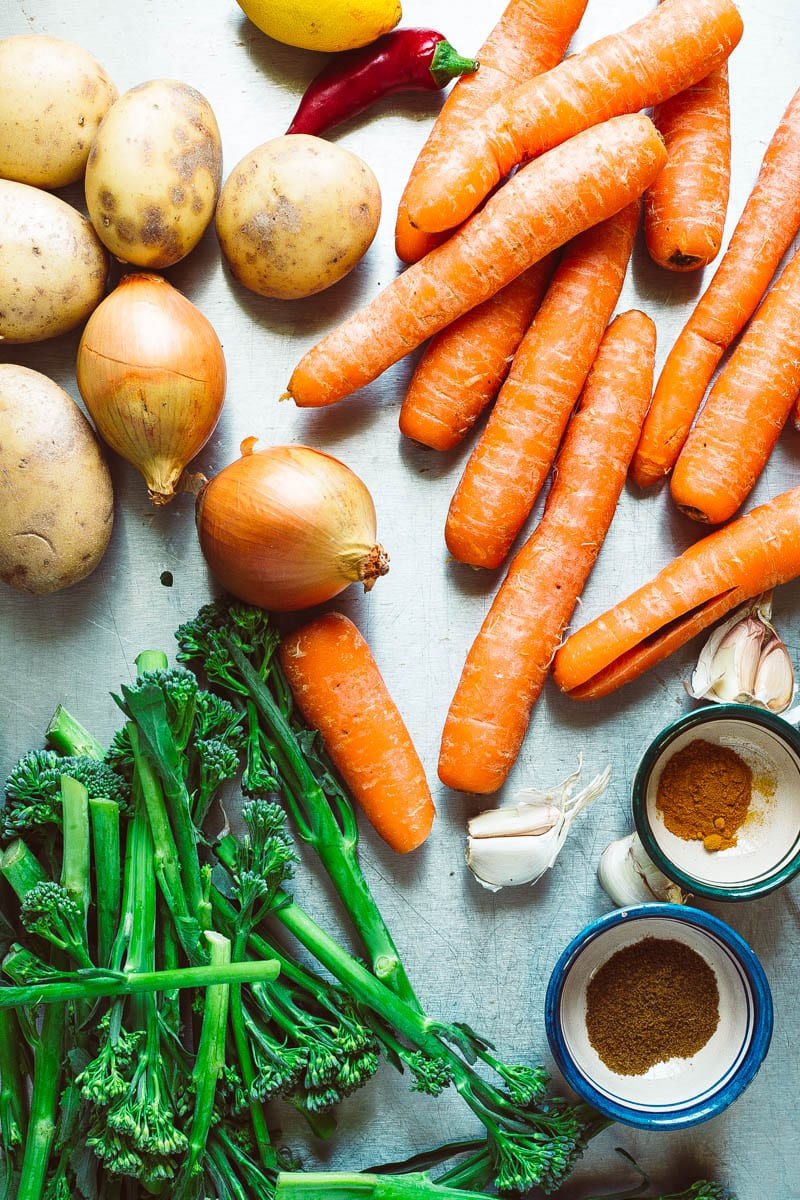 carrot and broccoli soup ingredients