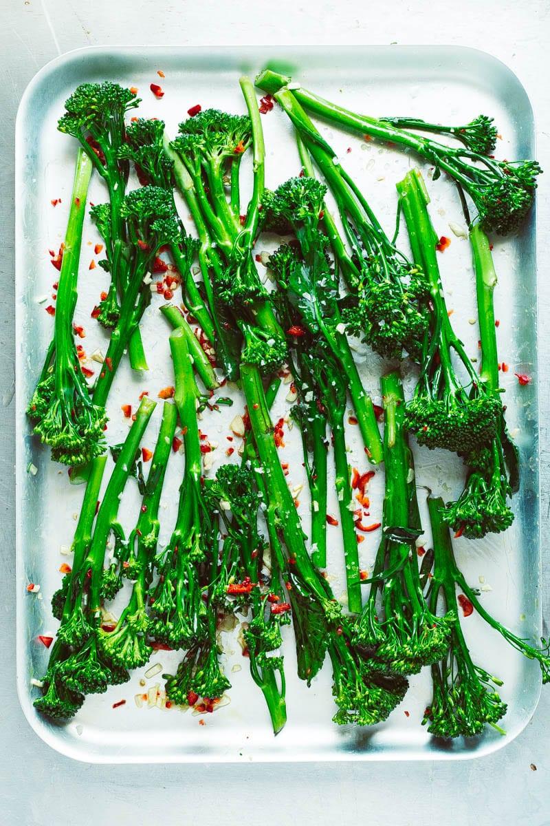 dressed tenderstem broccoli