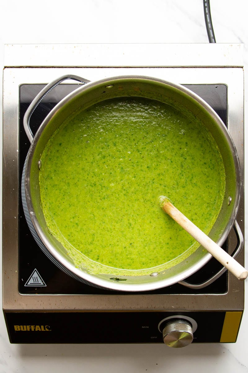 broccoli and spinach soup blended