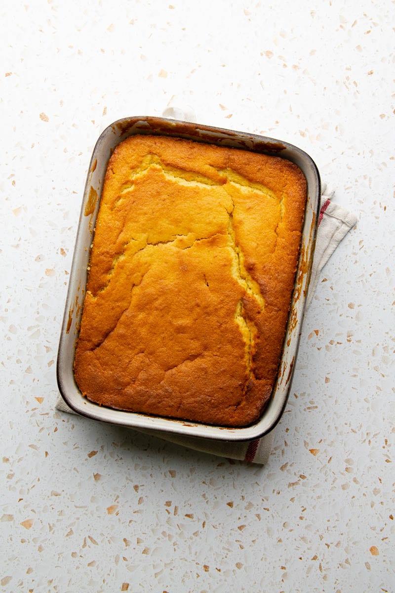 orange cake baked