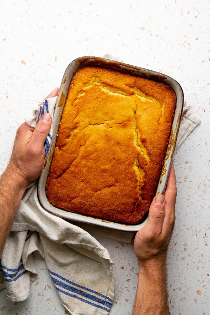cooked orange cake