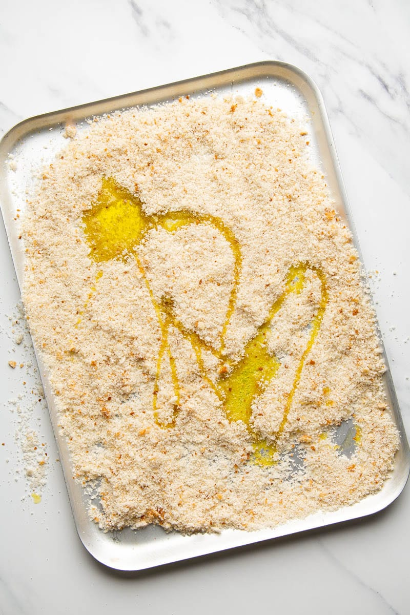 breadcrumbs with olive oil